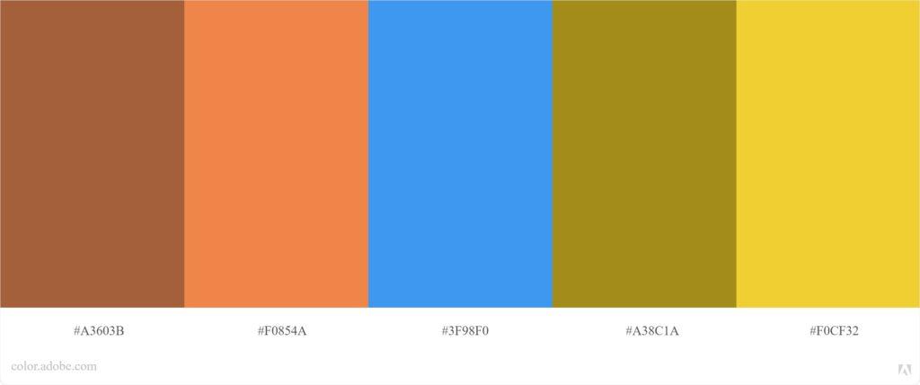 פלטת צבעים מחמיאים