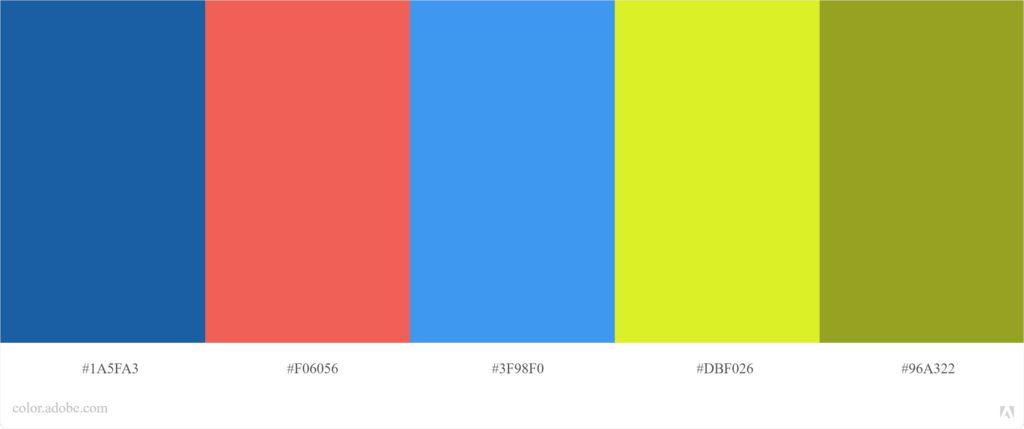 פלטת צבעים משולשת